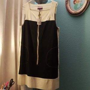 Tracy Feith Target black white shift dress XL